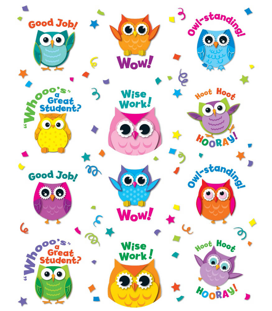 Colorful Owl Motivators Motivational Stickers Product Image