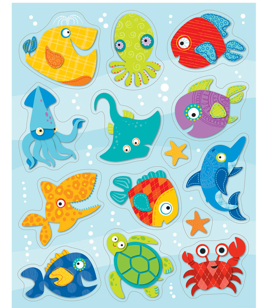 Seaside Splash Shape Stickers Product Image