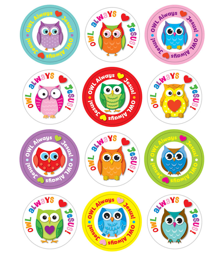 Owl Always Love Jesus Sticker Pack