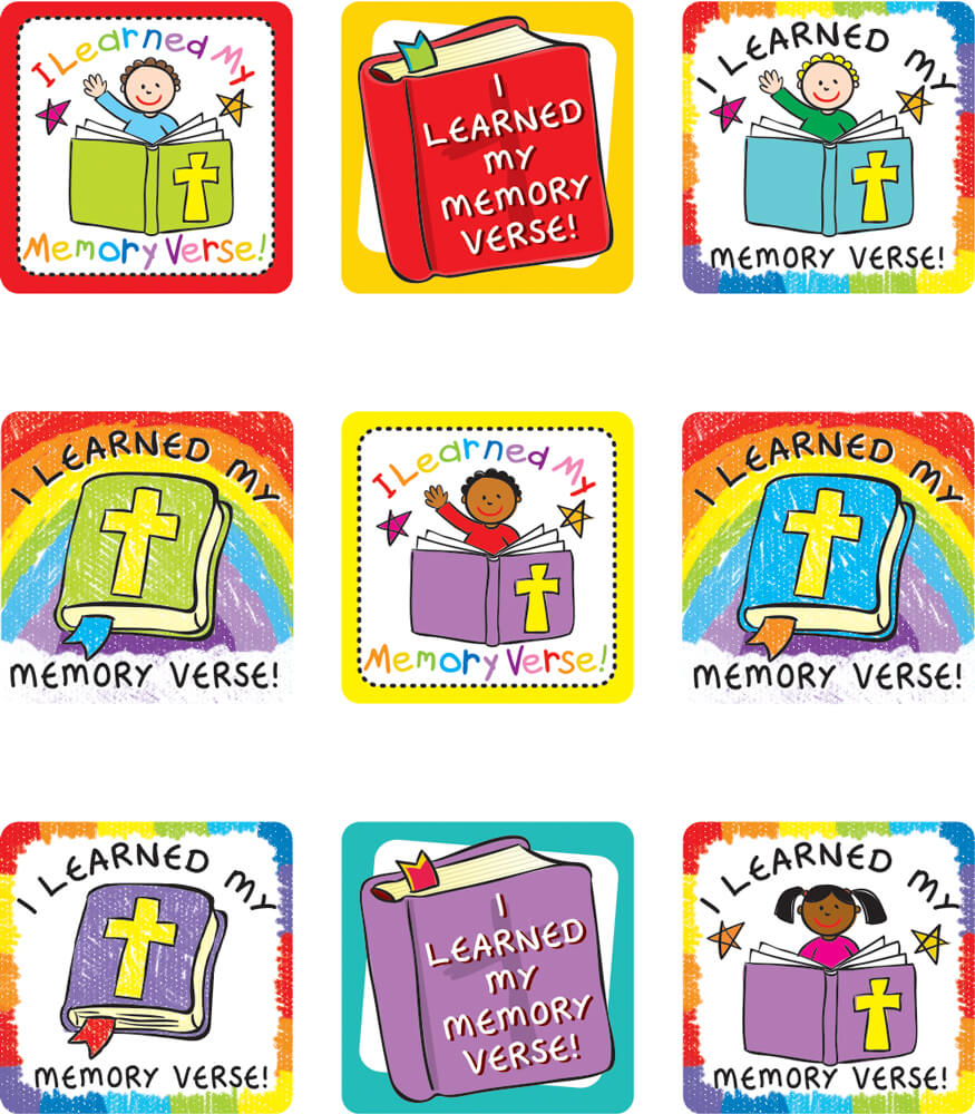 I Learned My Memory Verse Sticker Pack Product Image