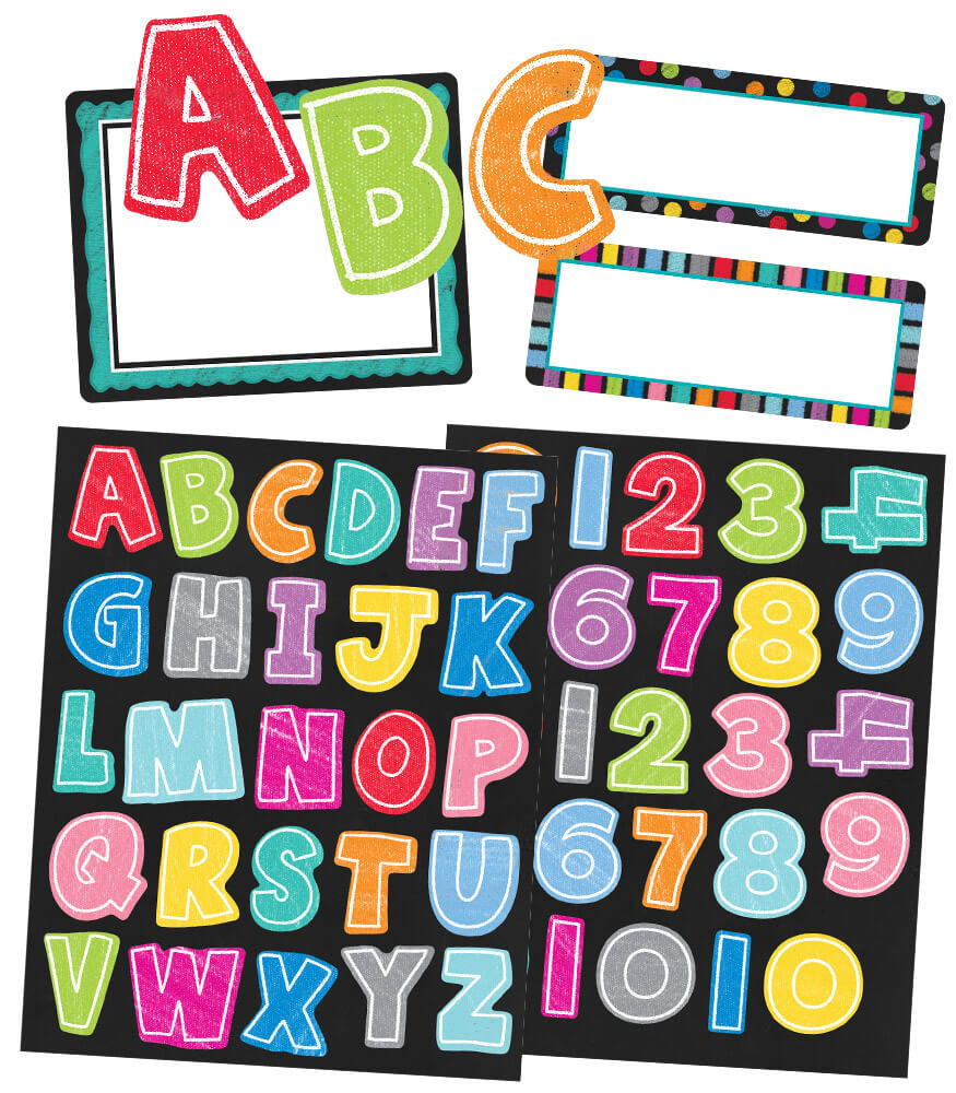 Colorful Chalkboard Variety Sticker Pack Product Image