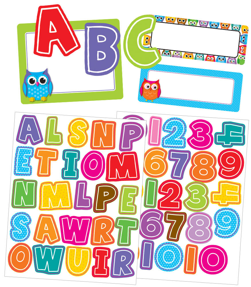 Colorful Owls Variety Sticker Pack Product Image