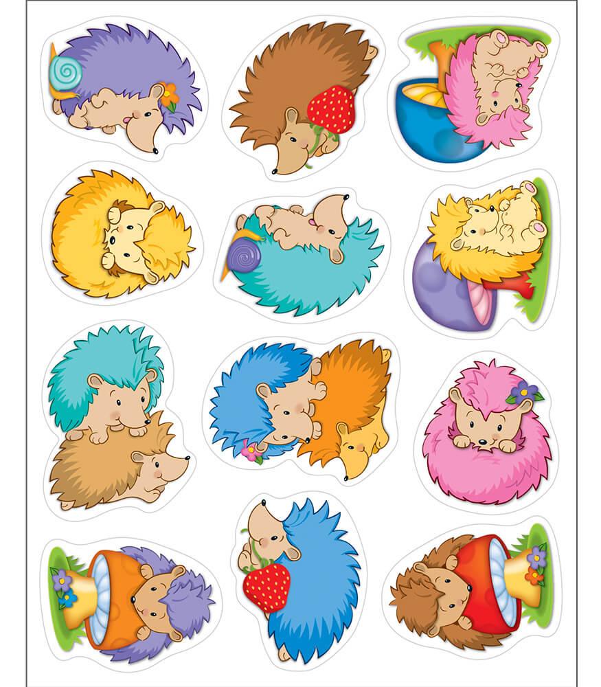 Hedgehog Classroom Decor ~ Happy hedgehogs shape stickers