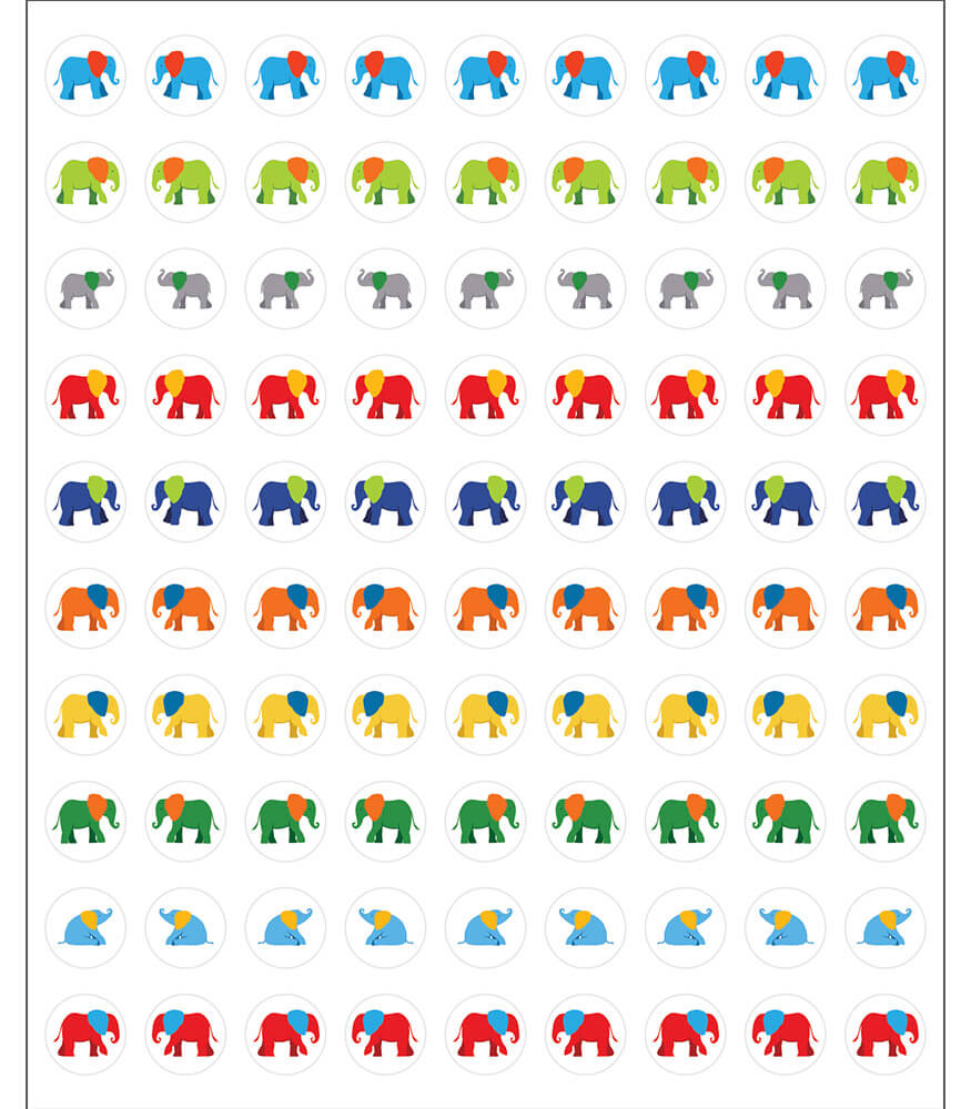 Parade of Elephants Chart Seals Product Image