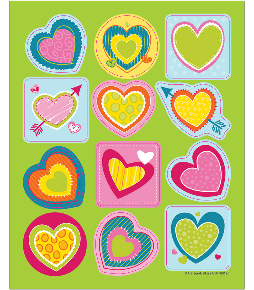 Bright Hearts Shape Stickers Product Image