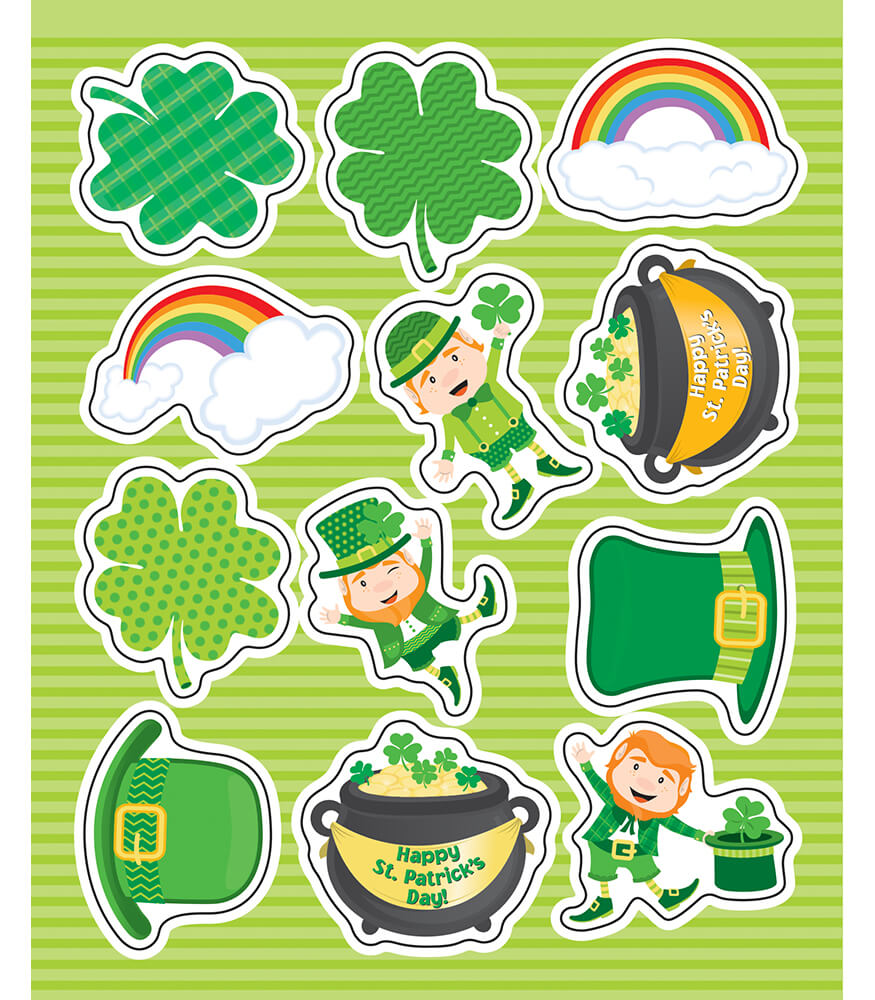 St. Patrick's Day Shape Stickers Product Image