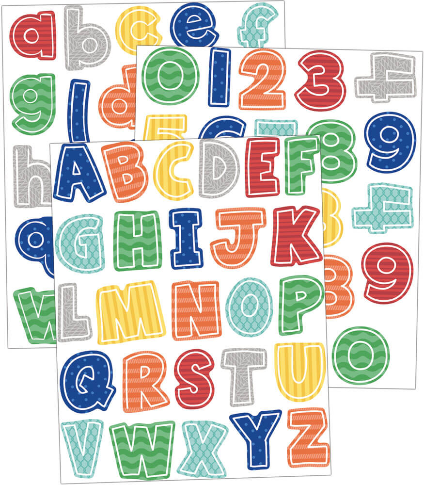 S.S. Discover Letters and Numbers Sticker Pack Product Image