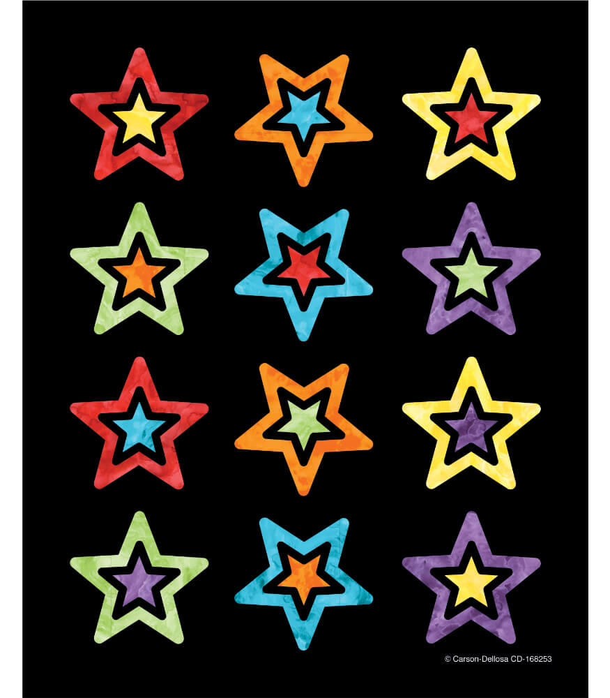 Celebrate Learning Shape Stickers