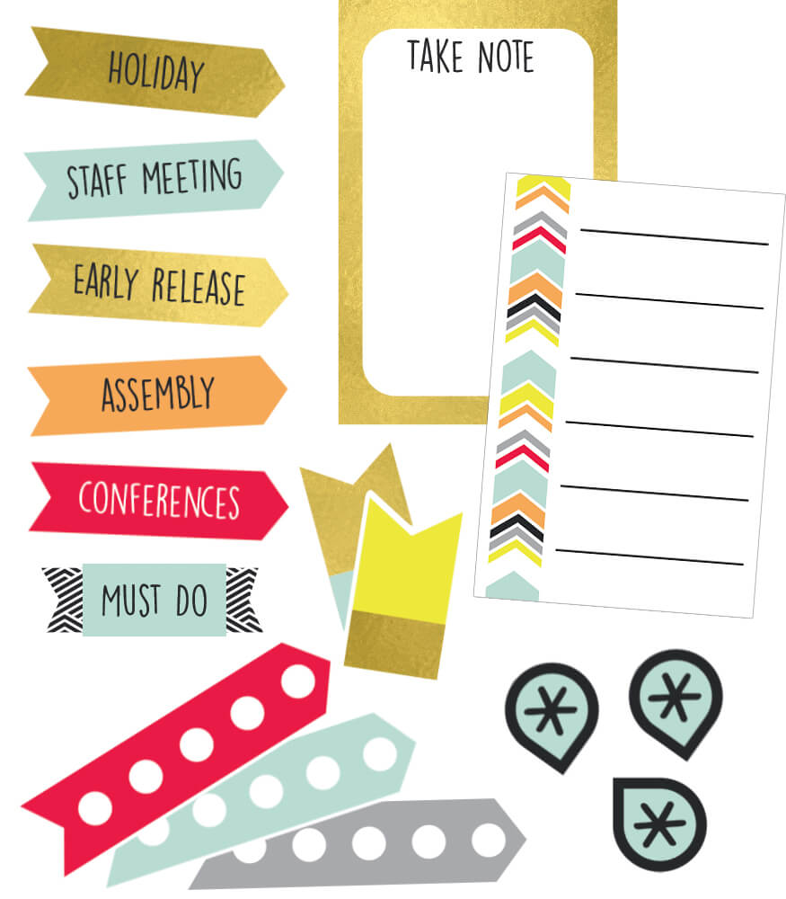 Aim High Planner Accents Sticker Pack Product Image