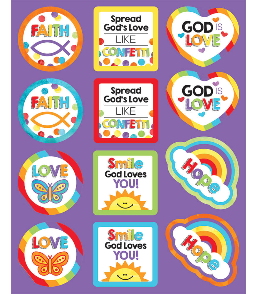 God's Love Shape Stickers Product Image