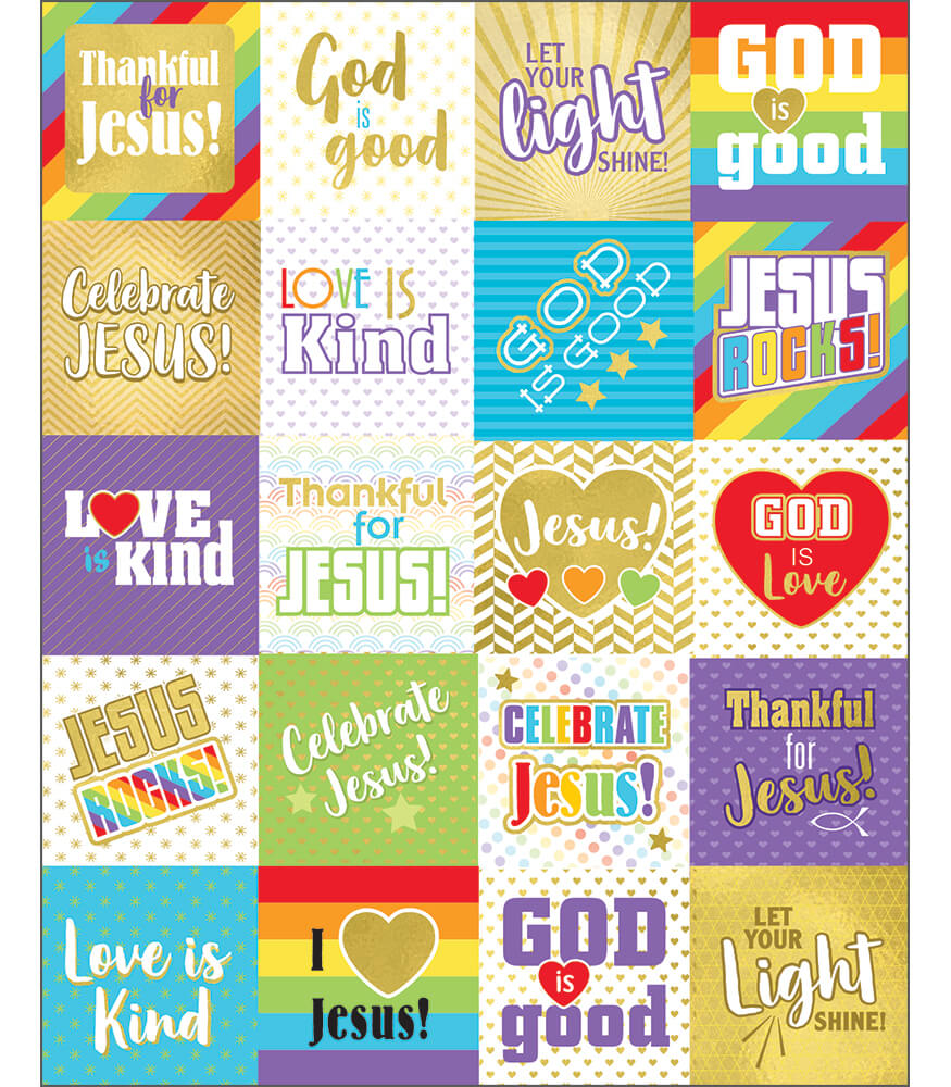 Words of Praise Shape Stickers Product Image