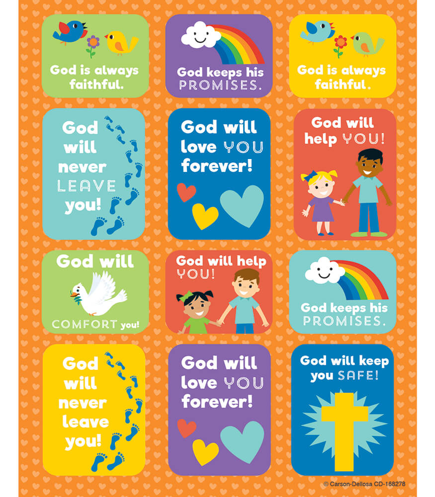 God's Promises Shape Stickers Product Image