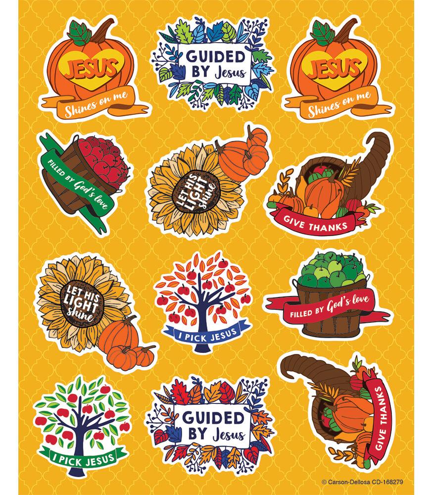 Fall Faith Shape Stickers Product Image