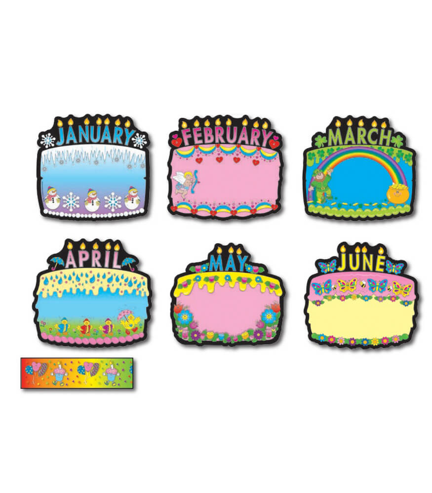 Birthday Cakes Bulletin Board Set Product Image