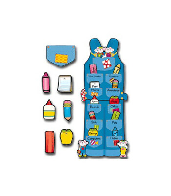 Overalls Job Assignment Bulletin Board Set Product Image