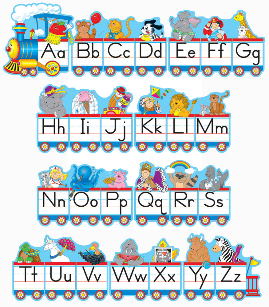 Alphabet Train Bulletin Board Set Product Image