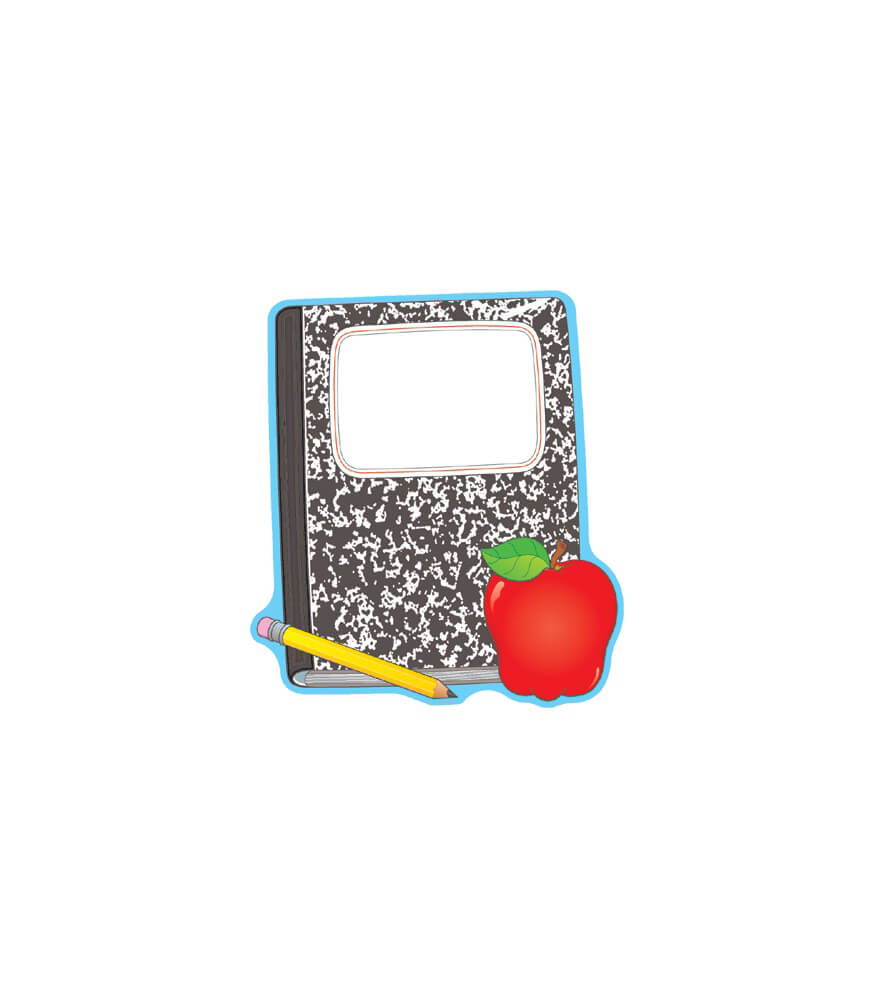 Composition Book and Apple Two-Sided Decoration