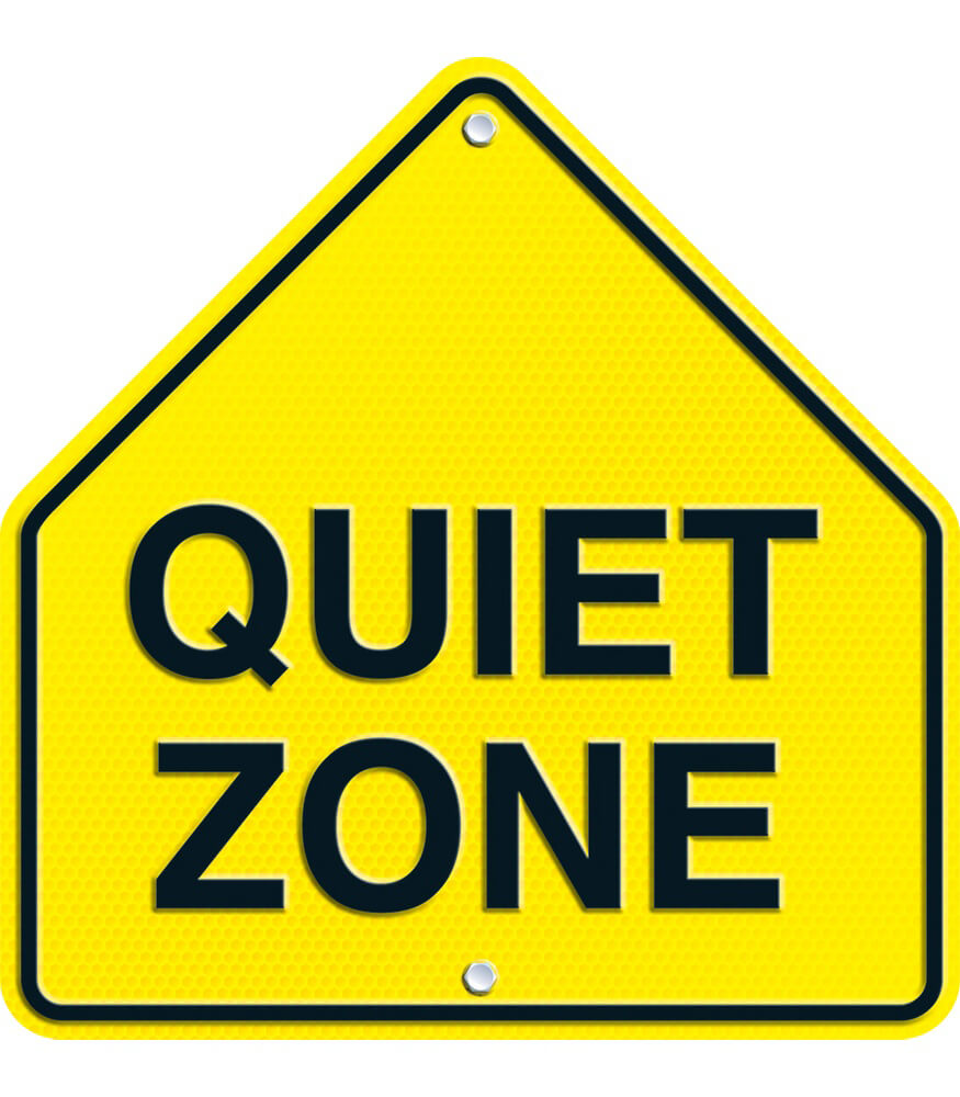 Quiet zone two sided decoration grade pk 5 carson for Decoration zone