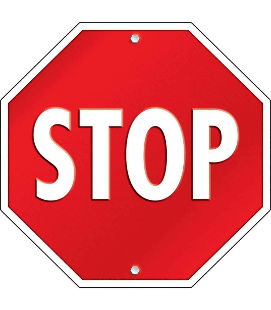 Stop Sign Two-Sided Decoration Product Image