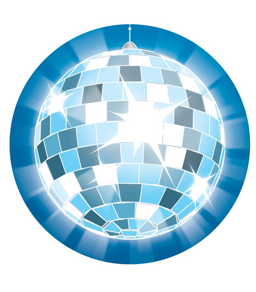 Disco Ball Two-Sided Decoration Product Image