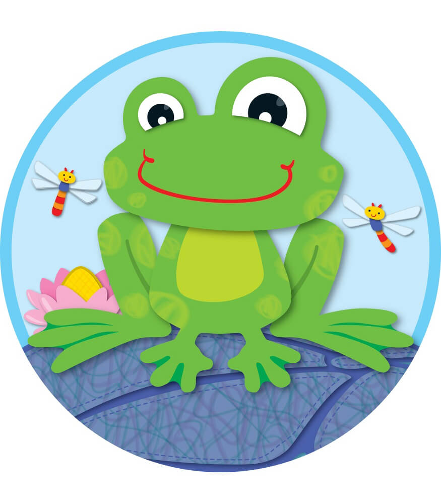 Classroom Decoration Hanging ~ Funky frog two sided decoration