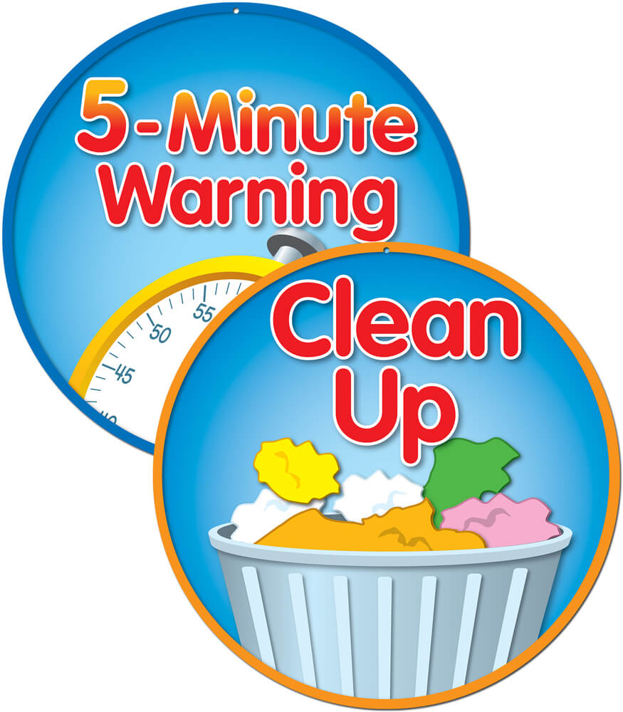 5-Minute Warning/Clean Up Two-Sided Decoration