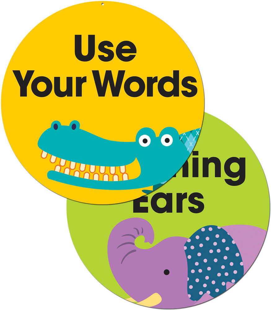 Use Your Words/Listening Ears Two-Sided Decoration Product Image