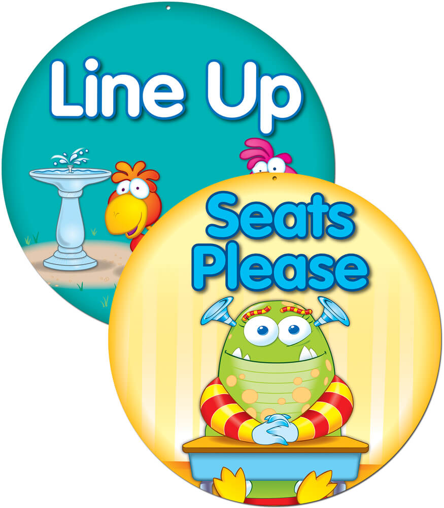 Line Up/Seats Please Two-Sided Decoration Product Image