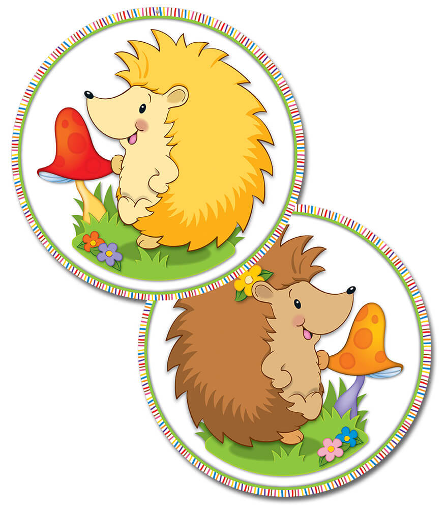Happy Hedgehogs Two-Sided Decoration Product Image