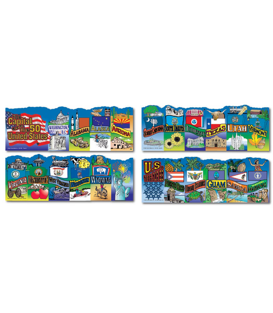 U.S. States and Territories Topper Bulletin Board Set Product Image