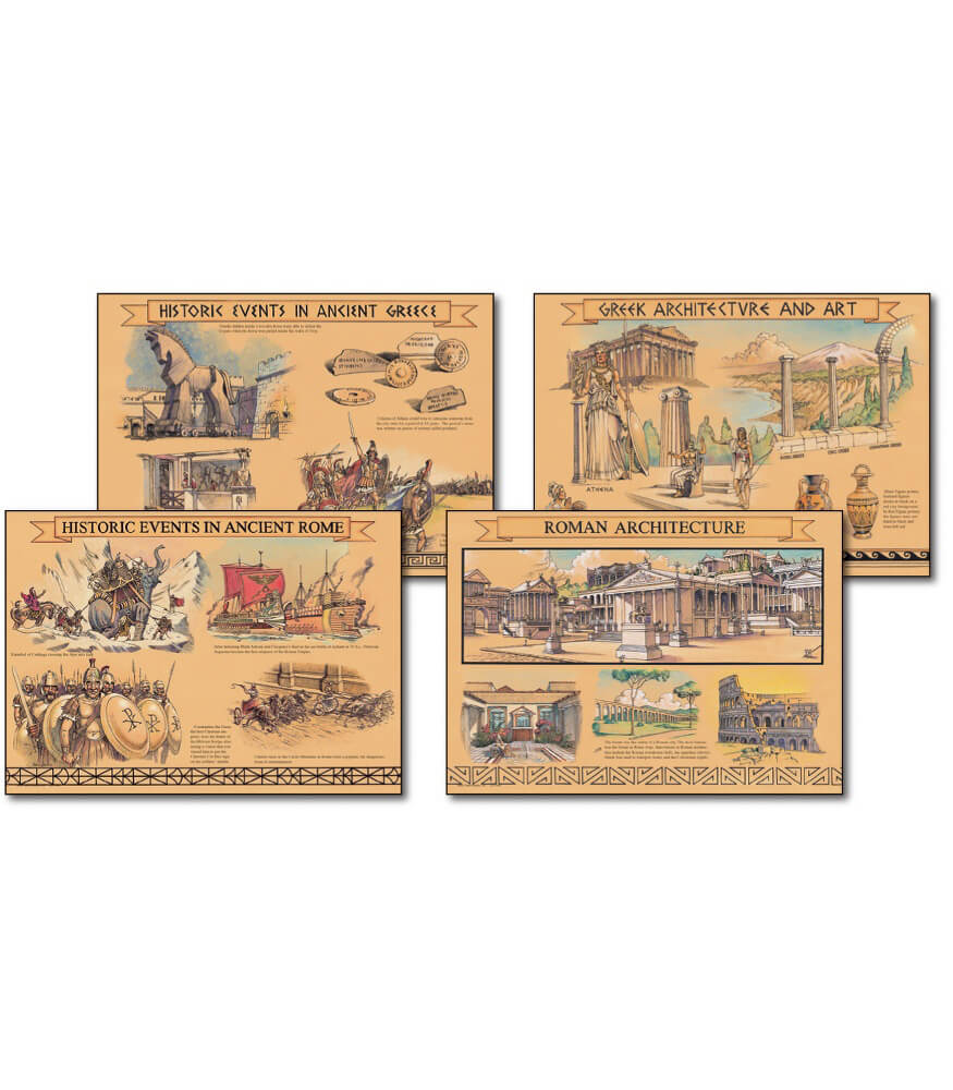 Greek and Roman Civilization Bulletin Board Set Product Image