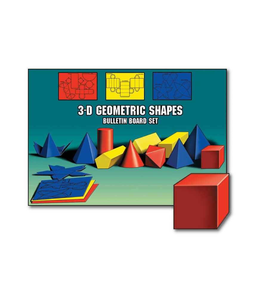 Geometric 3-D Models Bulletin Board Set Product Image