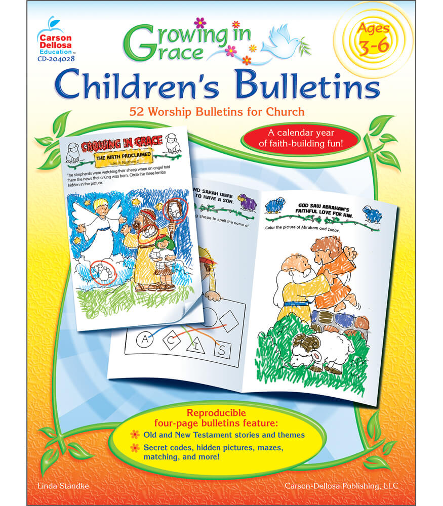 Growing in Grace Children's Bulletins Resource Book Product Image