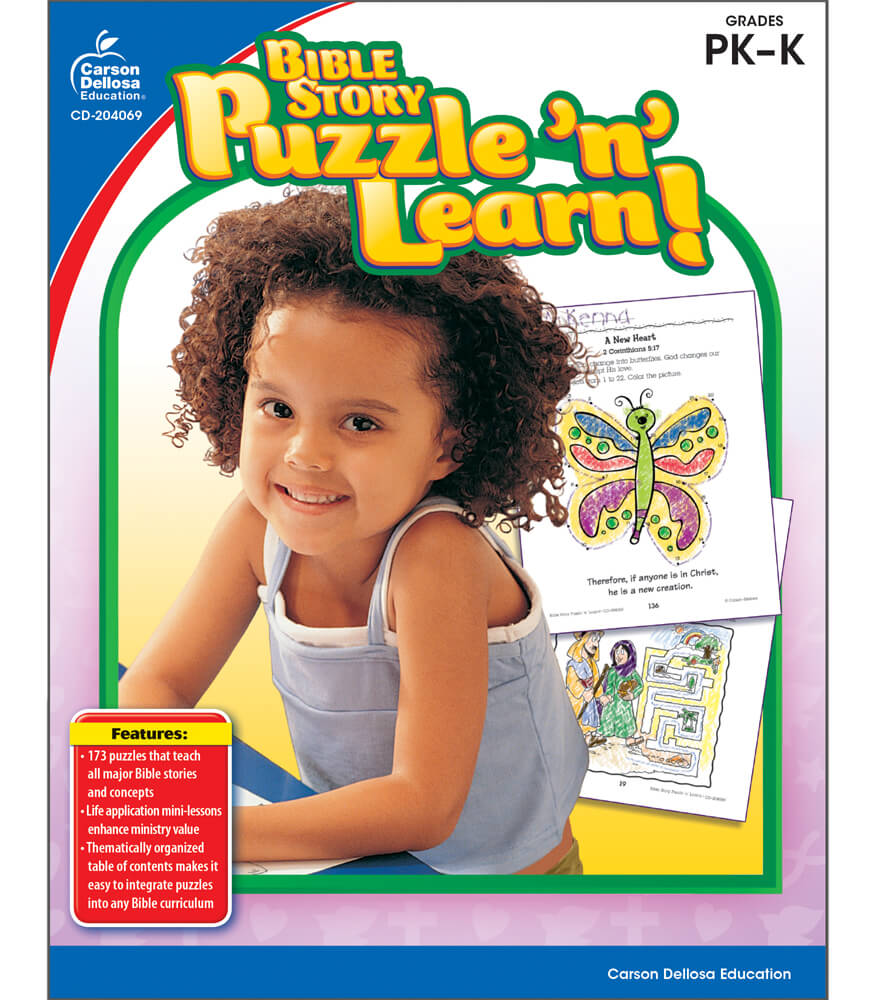 Bible Story Puzzle 'n' Learn! Activity Book Product Image