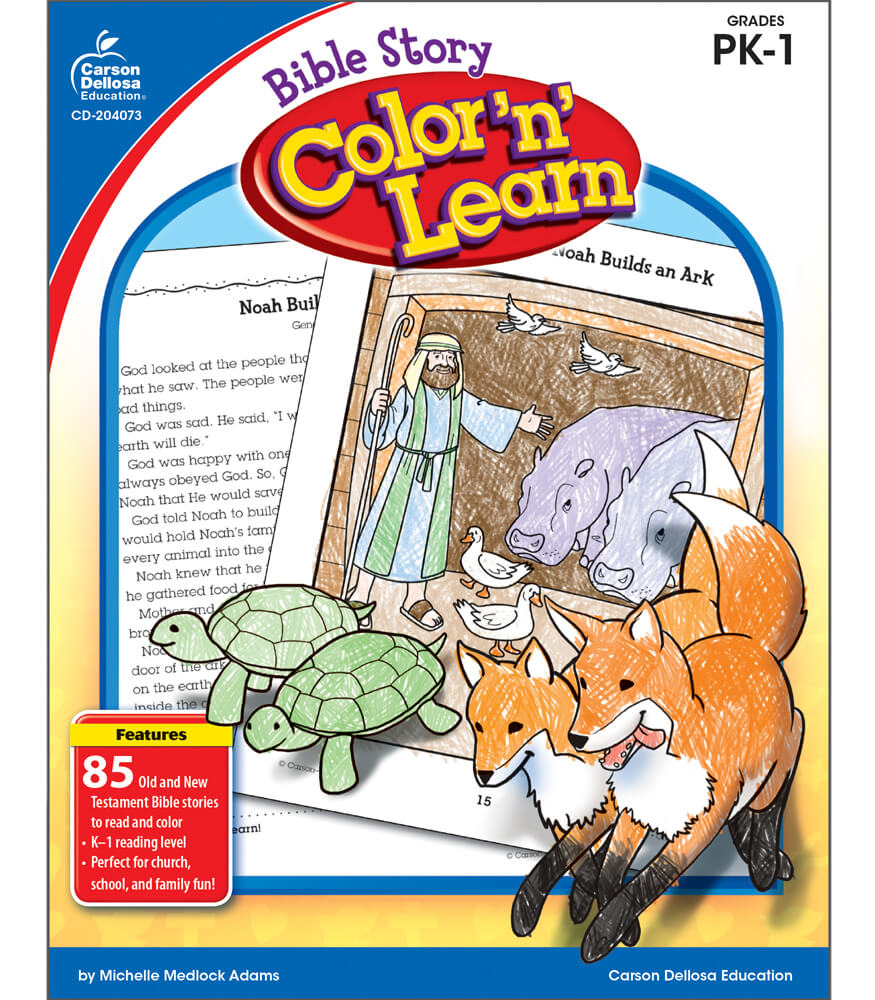 Bible Story Color 'n' Learn! Resource Book Product Image
