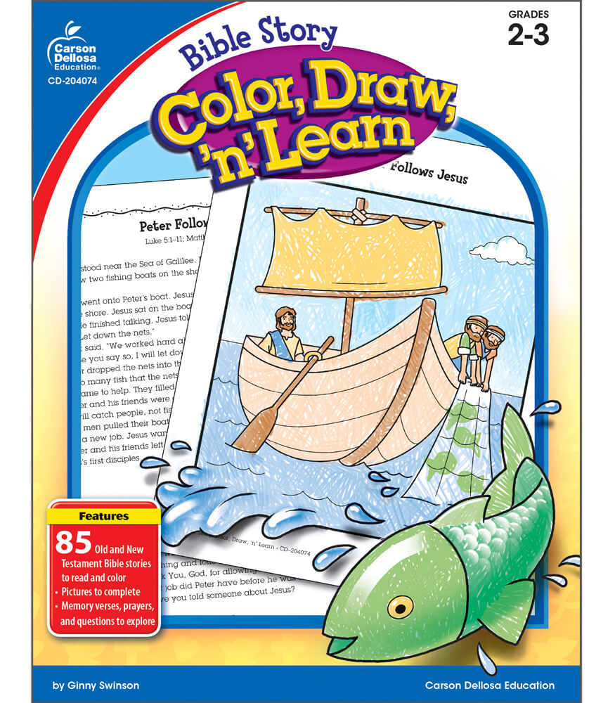 Bible Story Color, Draw, 'n' Learn! Resource Book Product Image