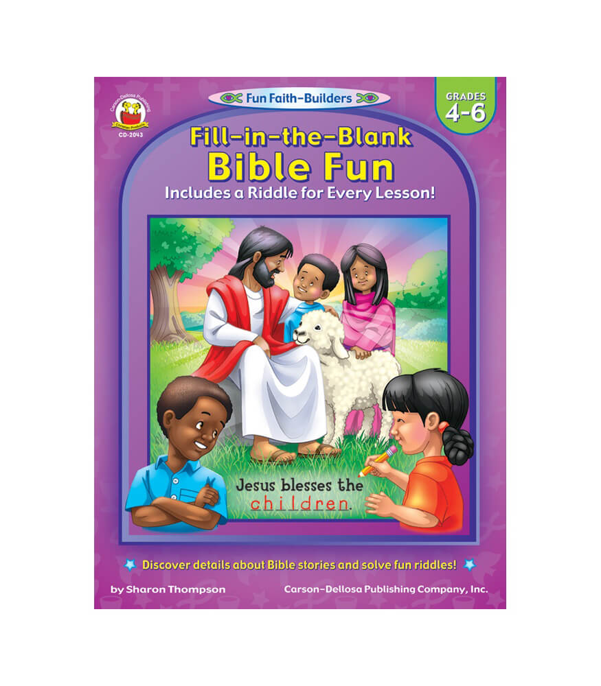 Fill-in-the-Blank Bible Fun Activity Book Product Image
