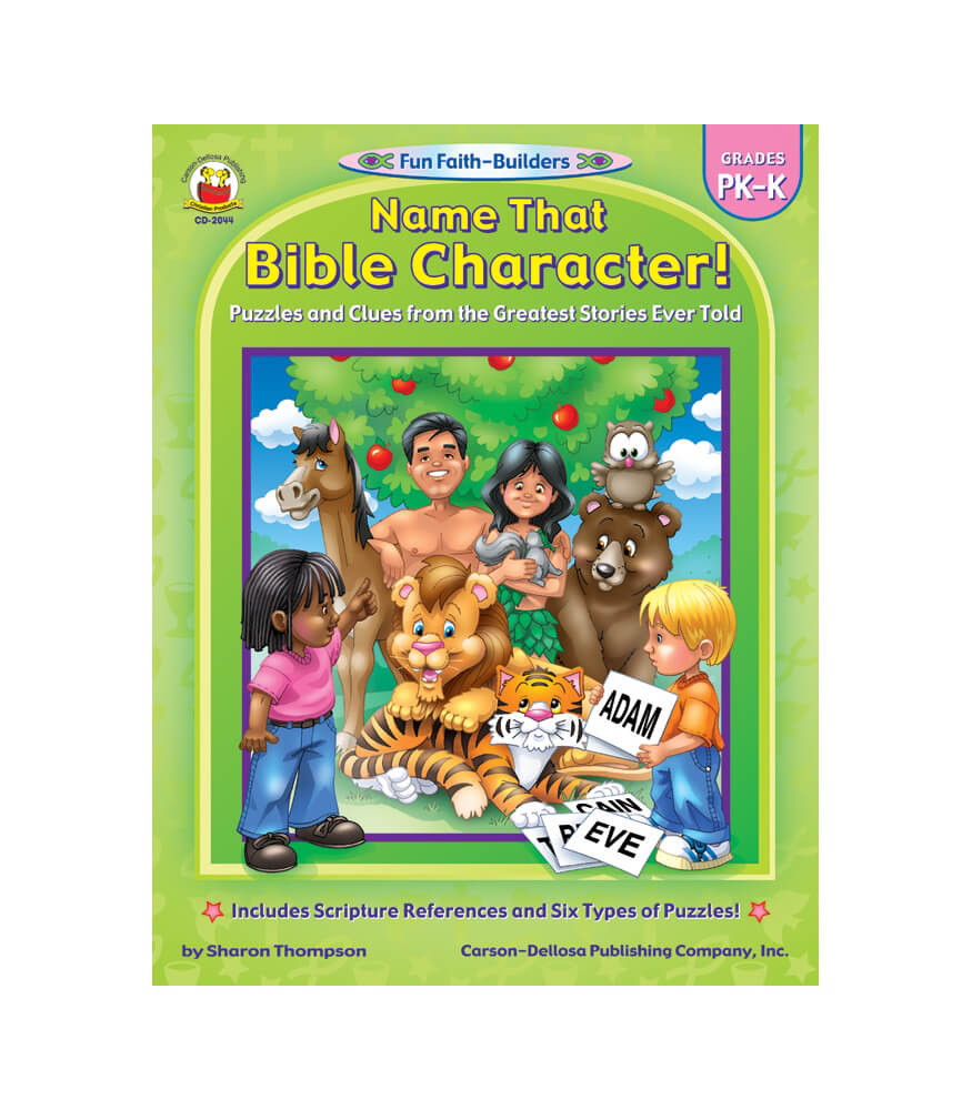 Name That Bible Character! Activity Book Product Image