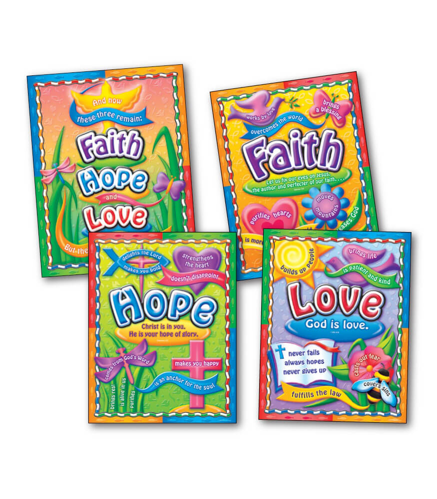 Faith, Hope, and Love Bulletin Board Set Product Image