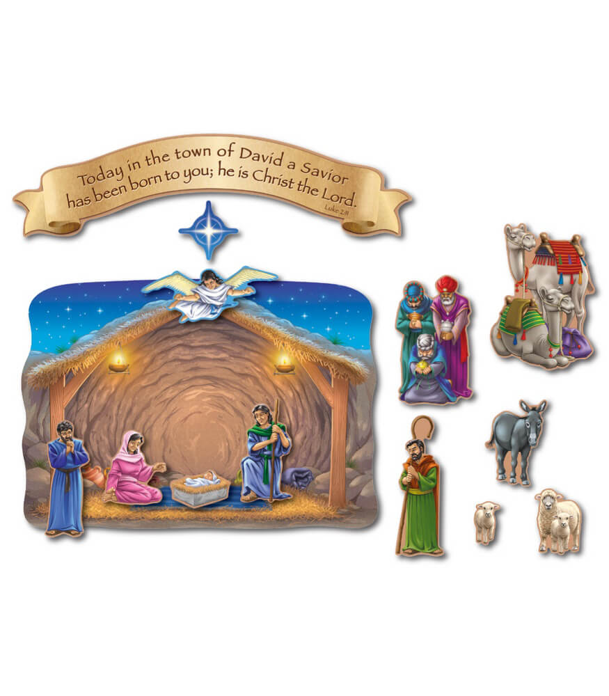 Nativity and the Magi's Visit Bulletin Board Set
