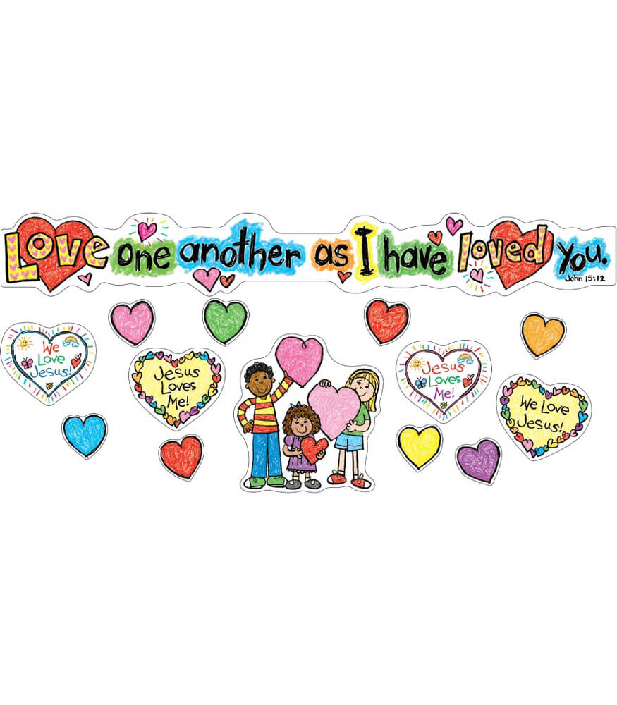 Love One Another Mini Bulletin Board Set Product Image
