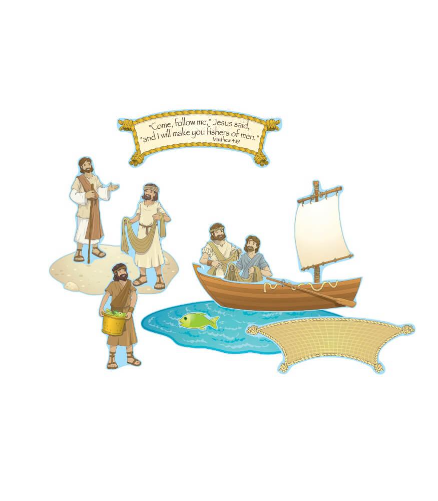 Fishers of Men Mini Bulletin Board Set Product Image