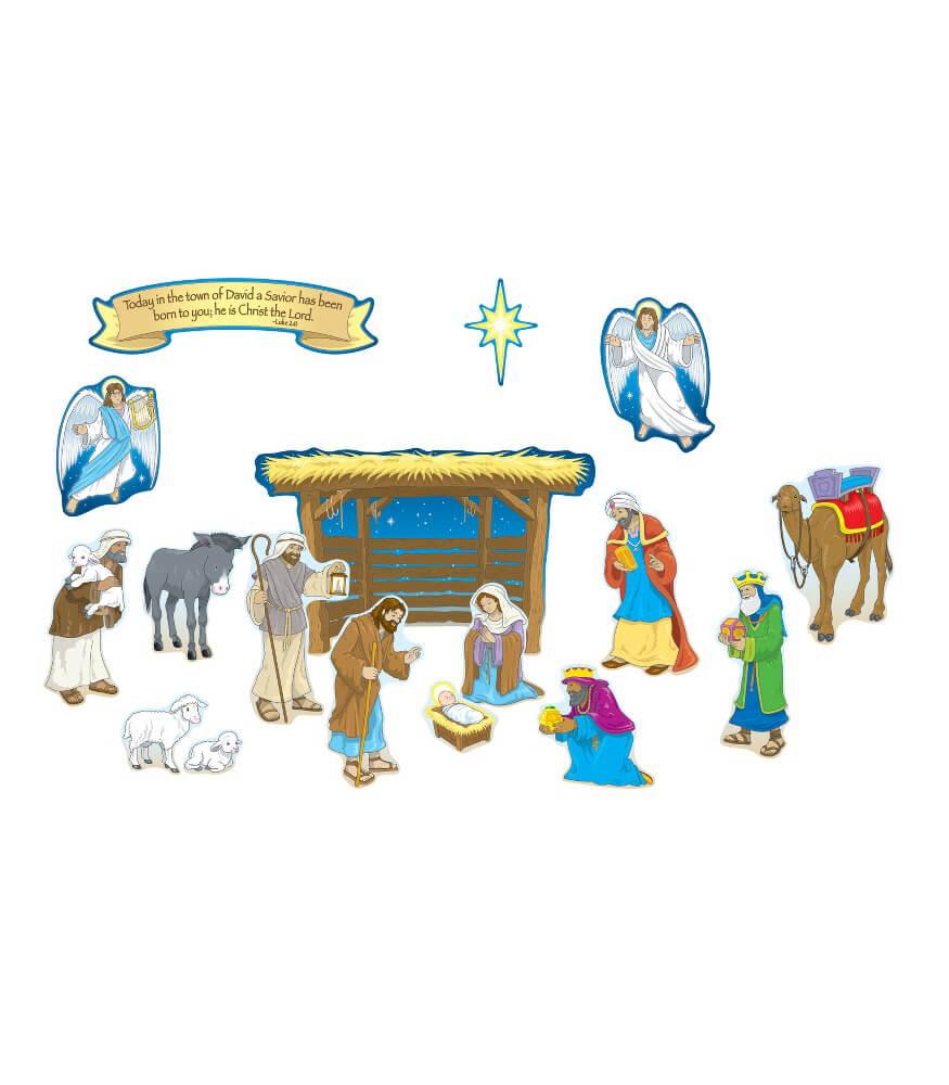 Nativity Mini Bulletin Board Set Product Image