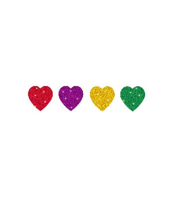 Hearts, Multicolor Chart Seals