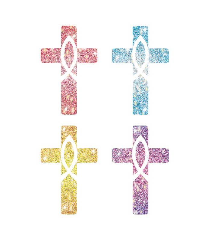 Crosses Dazzle™ Stickers Product Image