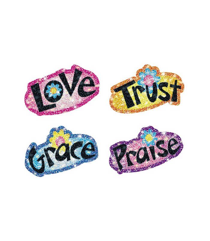 Faith Words Dazzle™ Stickers Product Image