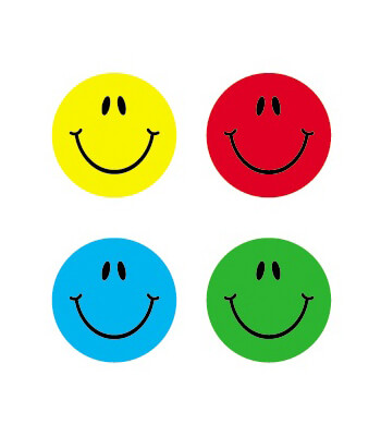 Smiles, Multicolor Chart Seals