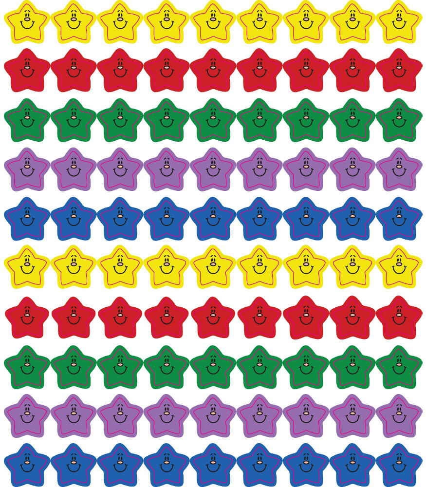 Smiling Stars Chart Seals Product Image