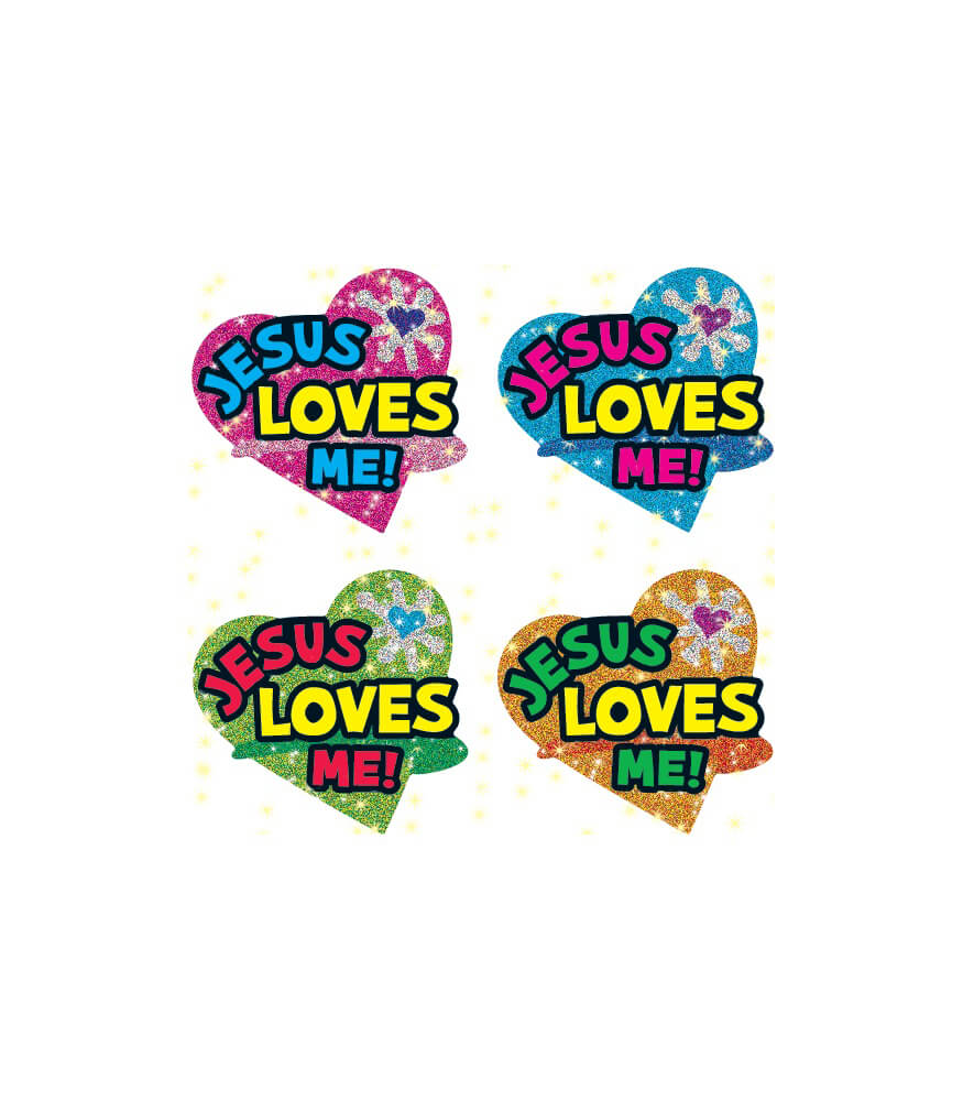 Jesus Loves Me Dazzle™ Stickers Product Image