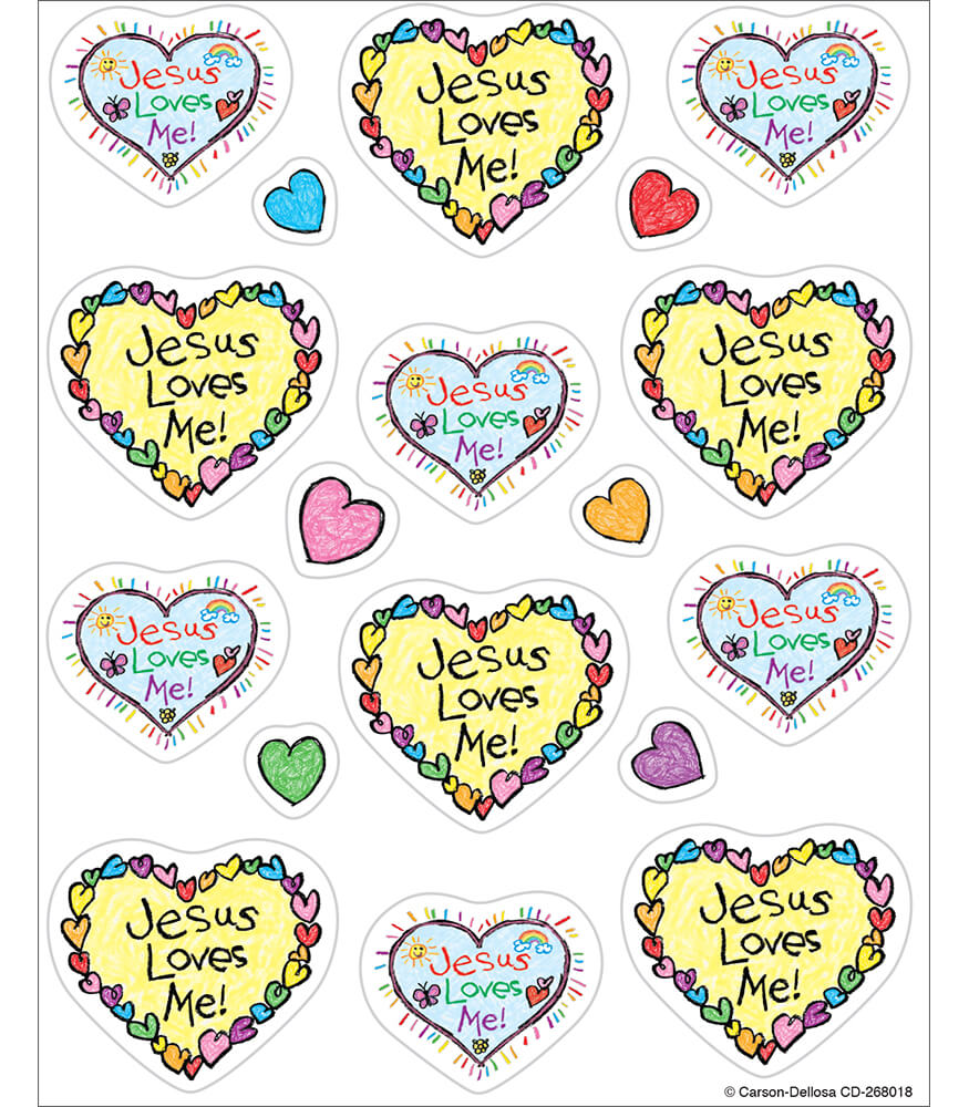 Jesus Loves Me! Shape Stickers Product Image